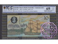 1988 AA$10 Johnston/Fraser PCGS 69 OPQ