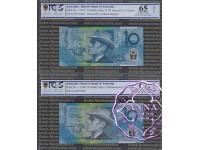 1993 & AA98 $10 Matching Pair PCGS 65 67 OPQ