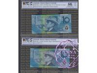 1993 & 98 $10 Matching Pair PCGS 66 OPQ
