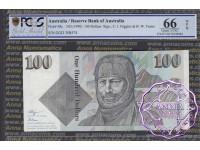 1990 $100  R612 Fraser/Higgins PCGS 66 OPQ