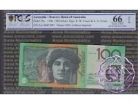 1996 R616F AA96 Green Opt $100 Fraser/Evans PCGS 66 OPQ