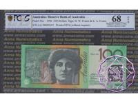 1996 R616F AA96 Green Opt $100 Fraser/Evans PCGS 68 OPQ