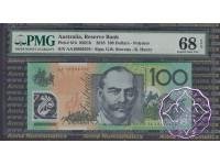 2010 R621bF AA10 $100 Stevens/Eenry PMG 68 EPQ