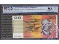 1991 $20 R413 Fraser/Cole PCGS 65 OPQ