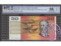 1991 $20 R413 Fraser/Cole PCGS 66 OPQ