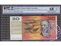 1991 $20 R413 Fraser/Cole PCGS 68 OPQ