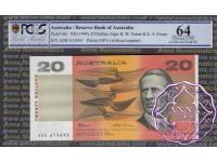 1993 $20 R415L Fraser/Evans ADK PCGS 64 OPQ