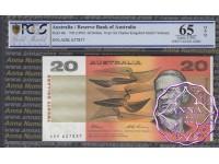 1993 $20 R415L Fraser/Evans ADK PCGS 65 OPQ