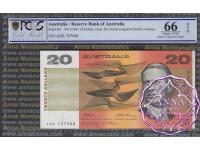 1993 $20 R415L Fraser/Evans ADK PCGS 66 OPQ