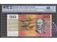 1993 $20 R415L Fraser/Evans ADK PCGS 68 OPQ