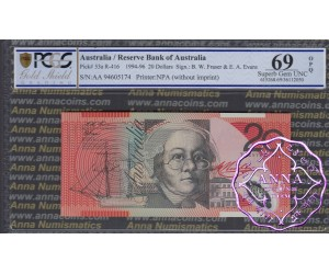 1994 $20 AA94 R416aF Fraser/Evans PCGS 69 OPQ