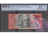 1994 $20 R416a Black Opt Fraser/Evans PCGS 67 OPQ