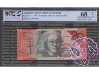 1994 $20 R416a Black Opt Fraser/Evans PCGS 68 OPQ
