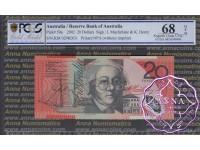 2002 $20 R420aL KM02 Macfarlane/Henry PCGS 68 OPQ