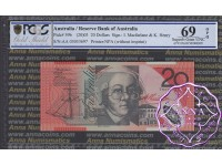 2003 $20 R420bF AA03 Macfarlane/Henry PCGS 69 OPQ