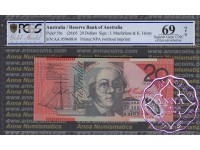 2005 $20 R420cF AA05 Macfarlane/Henry PCGS 69 OPQ