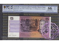 1969 $5 R203 Phillips/Randall PCGS 66OPQ
