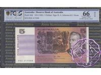 1983 $5 R208 Johnston/Stone PCGS 66 OPQ