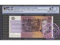 1983 $5 R208 Johnston/Stone PCGS 67 OPQ