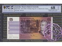 1983 $5 R208 Johnston/Stone PCGS 68 OPQ