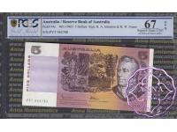1985 $5 R209b Johnston/Fraser PCGS 67 OPQ