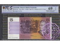 1985 $5 R209a Johnston/Fraser PCGS 69 OPQ