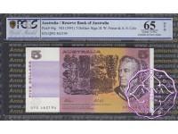 1991 $5 R213L Fraser/Cole QPG PCGS 65 OPQ