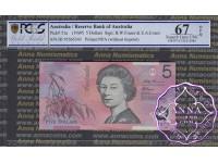1995 $5 217i Fraser/Evans PCGS 67 OPQ