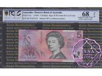 1995 $5 217i Fraser/Evans PCGS 68 OPQ