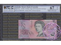 1996 $5 AA96 Fraser/Evans PCGS 67 OPQ