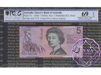 2002 $5 220aF Macfarlane/Henry PCGS 69 OPQ