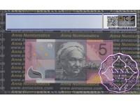 2001 $5 R219L Macfarlane/Evans PCGS 68 OPQ