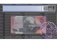 2001 $5 R219L Macfarlane/Evans PCGS 69 OPQ