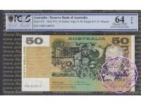1976 $50 R506a Knight/Wheeler PCGS 64 OPQ