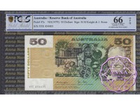 1979 $50 R507 Knight/Stone PCGS 66 OPQ
