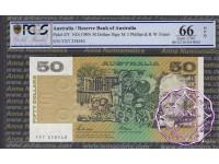 1989 $50 R511 Phillips/Fraser PCGS 66 OPQ