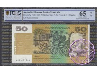 1990 $50 R512 Fraser/Higgins PCGS 65 OPQ