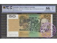 1991 $50 R513 Fraser/Cole PCGS 66 OPQ