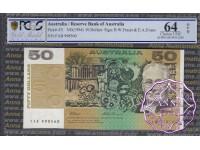 1993 $50 R515L FAB Fraser/Evans PCGS 64 OPQ