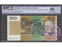1993 $50 R515 Fraser/Evans PCGS 66 OPQ