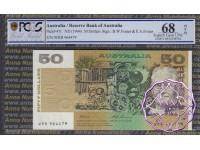1993 $50 R515 Fraser/Evans PCGS 68 OPQ