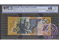 1995 $50 R516aF AA95 Black Opt Fraser/Evans PCGS 68OPQ