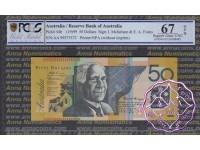 1999 $50 R518cF AA99 Macfarlane/Evans PCGS 67 OPQ