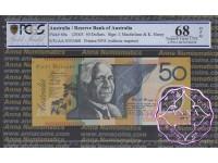 2003 $50 R520aF AA03 Macfarlane/Henry PCGS 68 OPQ