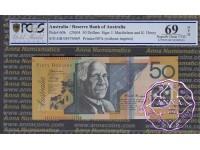 2004 $50 R520bL GB04 Macfarlane/Henry PCGS 69 OPQ