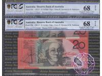 2013 $20 R422aF AA13 Stevens/Parkinson Pair PCGS 68 OPQ