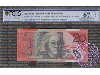 1994 $20 AA94 R416aF Fraser/Evans PCGS 67 OPQ