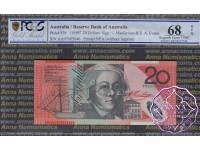 1997 $20 R418aF AA97 Fraser/Evans PCGS 68 OPQ