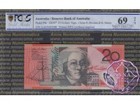 2007 $20 R421aF AA07 Stevens/Henry PCGS 69 OPQ