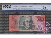 2008 $20 R421bF AA08 Stevens/Henry PCGS 68 OPQ